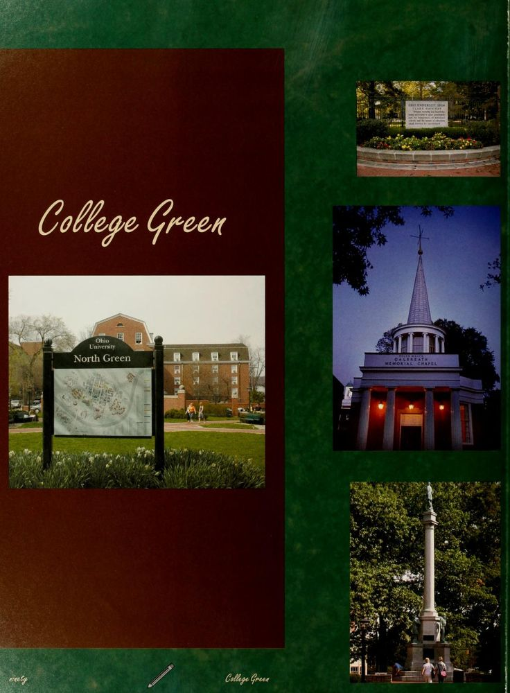 "Athena yearbook, 2006. ""College Green"" :: Ohio University Archives"