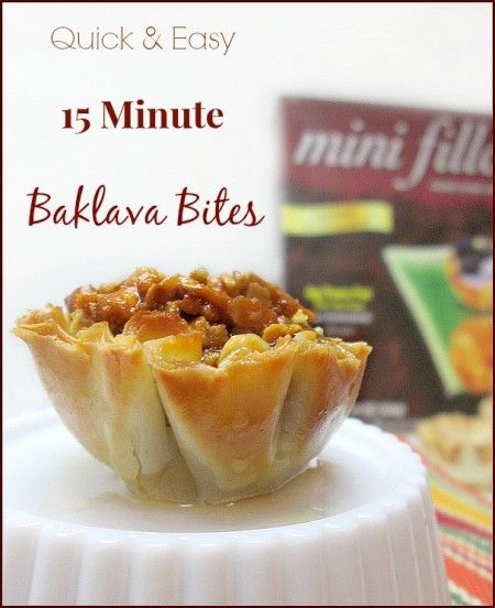 Quick And Easy 15 Minute Baklava Bites Recipe. Update: Made these for a big gathering--delicious.
