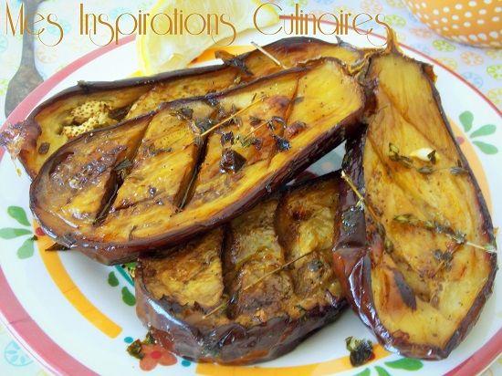 Une recette estivale pleine de saveur, parfuméeà l'huile d'olive et au thym. Ces aubergines ...