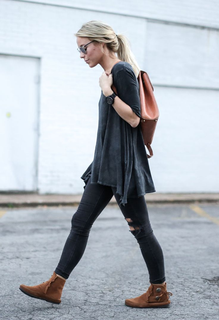 25 Ways to Wear Fringe featuring Happily Grey | Minnetonka Moccasin
