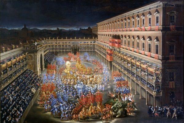 La Giostra dei Caroselli nel cortile di Palazzo Barberini in onore di Cristina di Svezia / Feste e Cerimonie / Route by subject - Museo di Roma