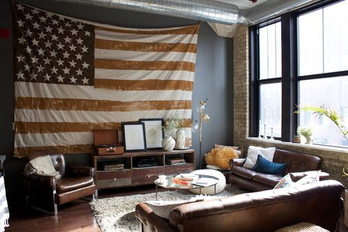 contemporary living room 4 Patriotic Rooms That Would Make the Founding Fathers Proud