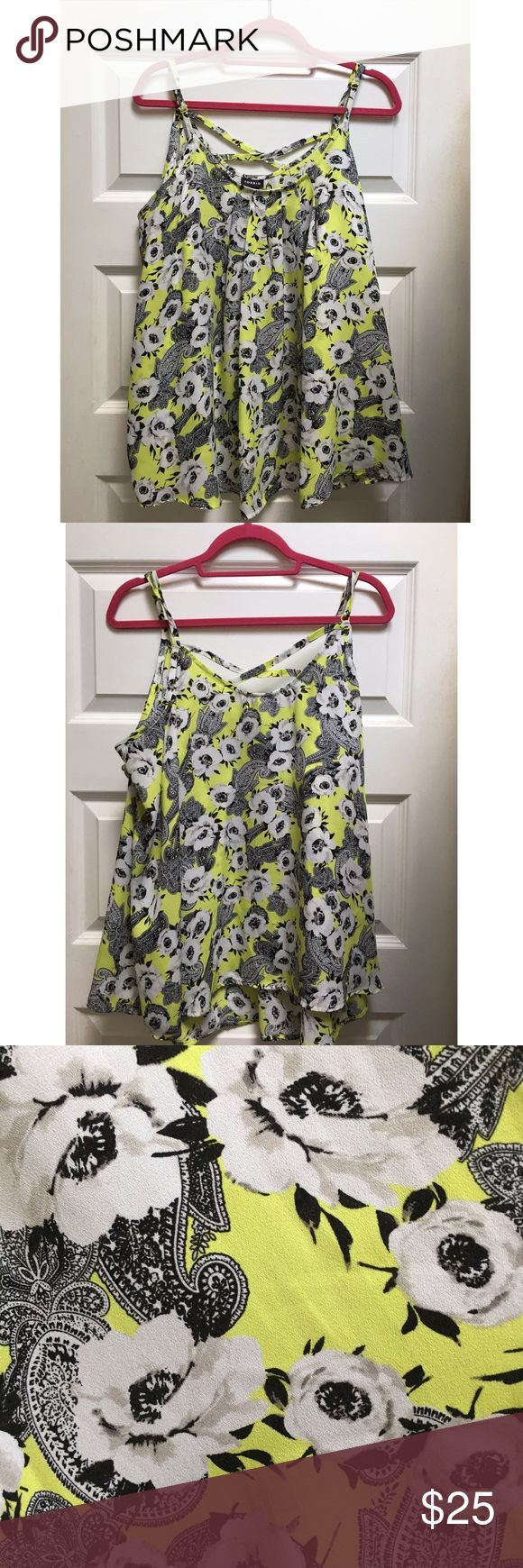 Torrid Paisley/Floral Strappy Tank Super cute & trendy paisley and floral tank. Adjustable straps, flowy. Worn once. True to size. Torrid size 2. torrid Tops Tank Tops