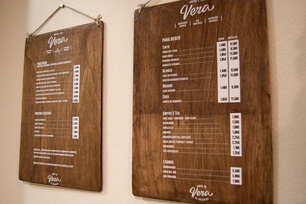 Vera by El Calotipo, via Behance. wood & white signs