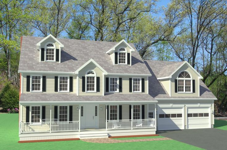 homes with farmers porches | Picture: Farmers Porch.jpg provided by Colonial Home Design Westford ...