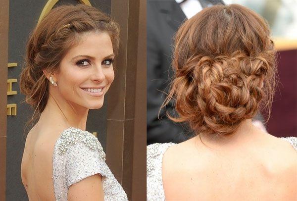 Maria Menounos Hochgesteckte Frisur hinten gebundenes Haar