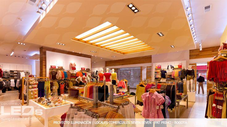 Proyecto de Iluminación|Locales comerciales SEVEN SEVEN- PAT PRIMO - Bogotá