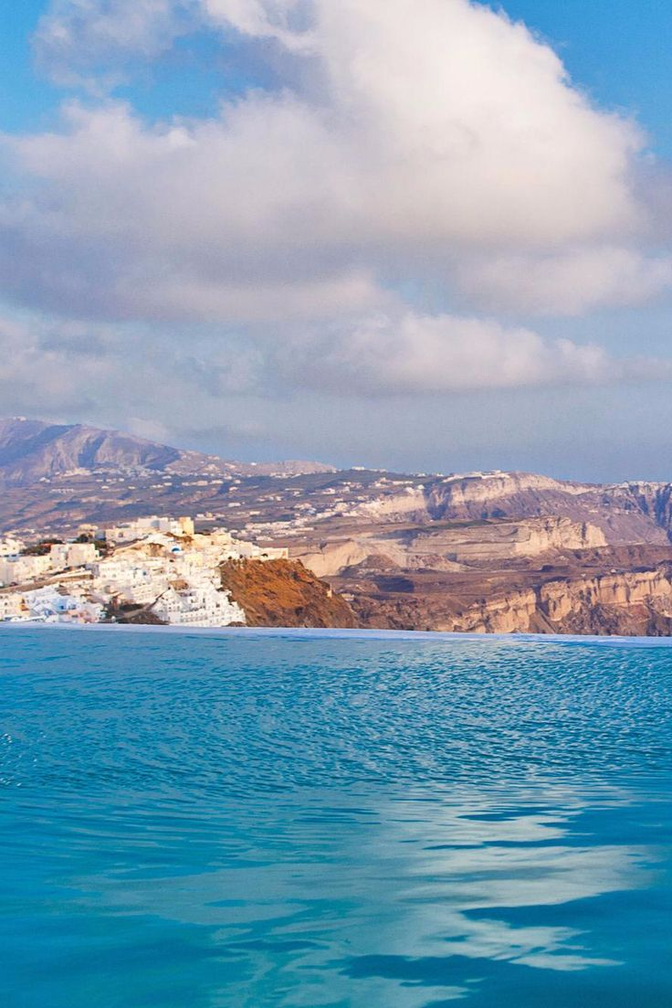 From the infinity pool you can see the entire island - including the capital, Fira. Chromata Up Style Hotel (Santorini, Greece) - Jetsetter
