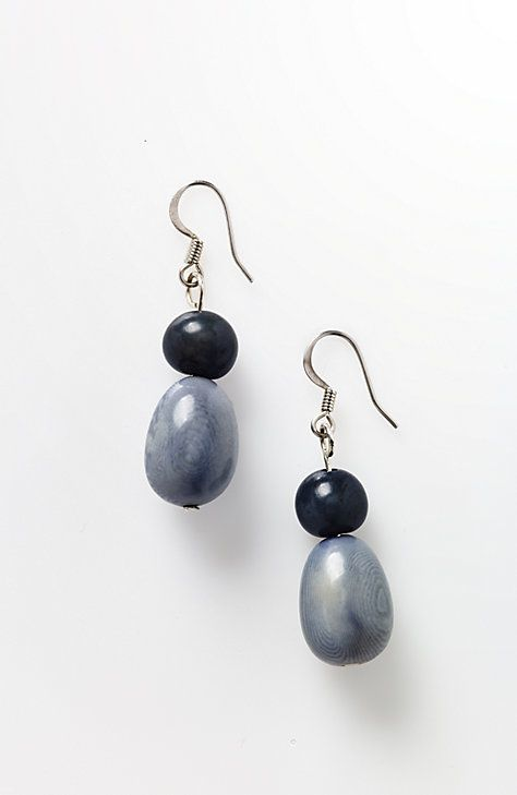 Pure Jill acai & tagua earrings
