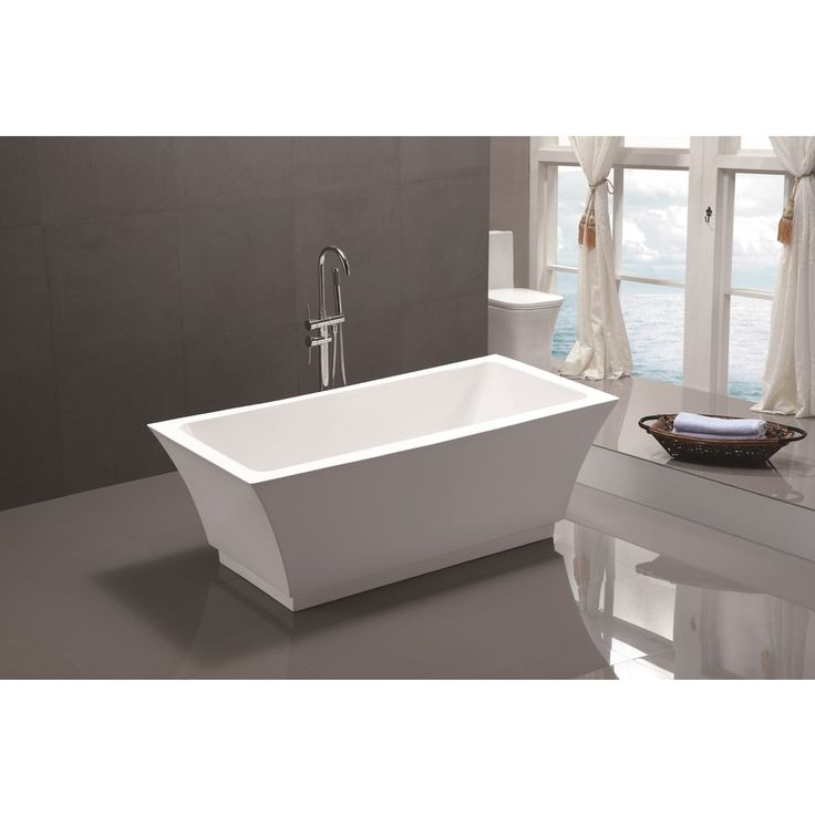 designed long bathrooms. Experience the luxury of a long  relaxing bath in this freestanding acrylic bathtub This artistically inspired soaking tub is designed to make statement 7 best Bathroom images on Pinterest Bathrooms and Half