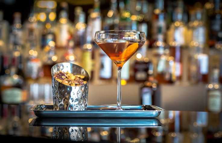 The Rye Bar at Capella Washington D.C. features a barrel-aged Manhattan created by Capella Georgetown's food and beverage manager Will Rentschler. It incorporates Dad's Hat Rye, an artisanal small-batch whiskey from Pennsylvania, Dolin sweet vermouth, and Byrrh Quinquina, a sweet French aperitif. Fifteen gallons of the boozy concoction is aged for six weeks in an empty Dad's Hat whiskey barrel, providing a smooth final product that the hotel describes as having a