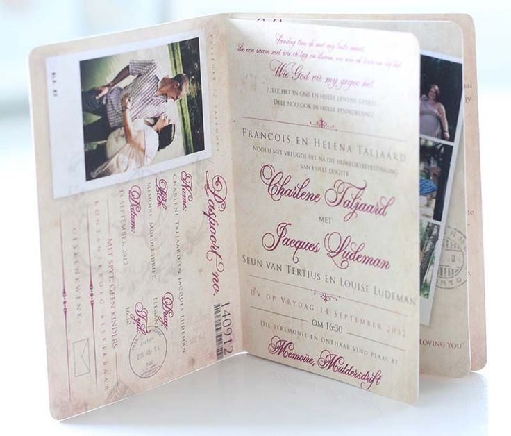 Wedding Invitations | Wedding Stationery | South Africa | Secret Diary | Passport Invitation – Charlene and Jacques