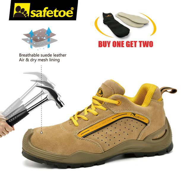 b58a14ba5de Shoes Mens - Safetoe Safety Shoes Mens Work Boots Safety Shoes Steel ...
