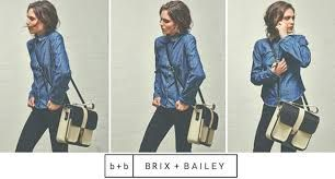 Brix and Bailey Black and Ivory Leather Shoulder Bag www.brixbailey.com