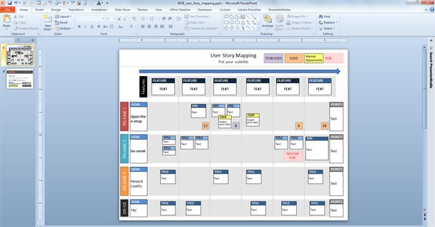 a free story map  powerpoint  template you can easily