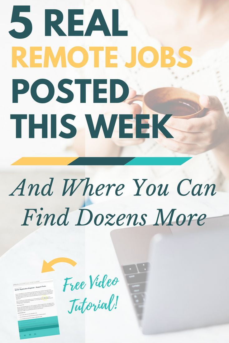 17 best images about work from home jobs work from 5 real remote jobs posted this week where to more