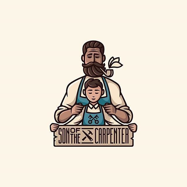 """731 Likes, 8 Comments - Logo Expose by @aCreative.id (@logoxpose) on Instagram: """"Son of The Carpenter • Work by @repadesign • Follow us for your logo design inspiration …"""""""