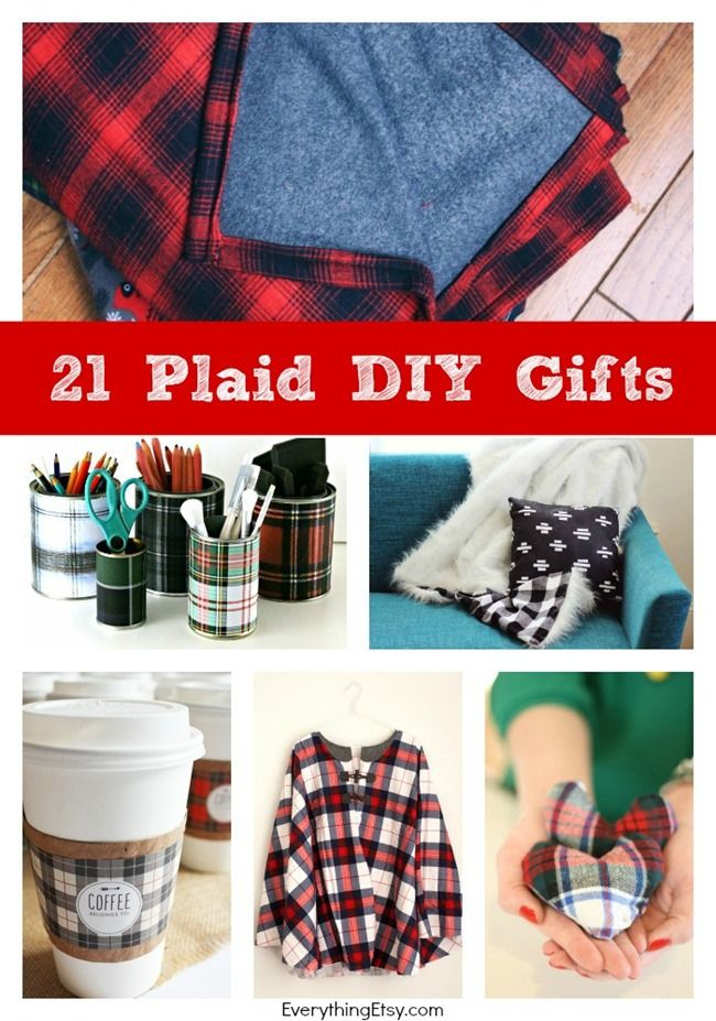 21 Plaid DIY Gifts for you'll love! Lots of no sew projects! EverythingEtsy.com