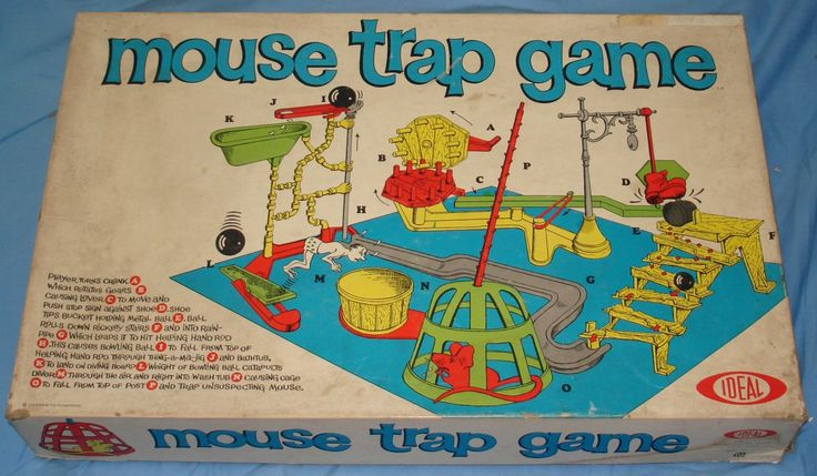 1970S Toys | Ideal Mouse Trap Game Box Lid - For Information & Display Only - Not ...
