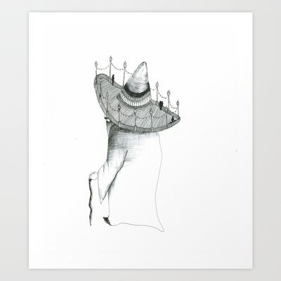 mysterious+worlds+Art+Print+by+daggy+jess+-+$15.00