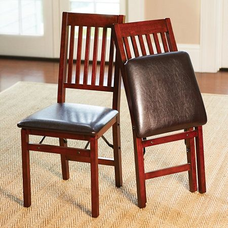 Hamilton Wood Folding Dining Chairs-Set of 2