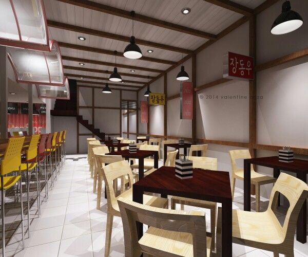 Asian fast food restaurant design interior