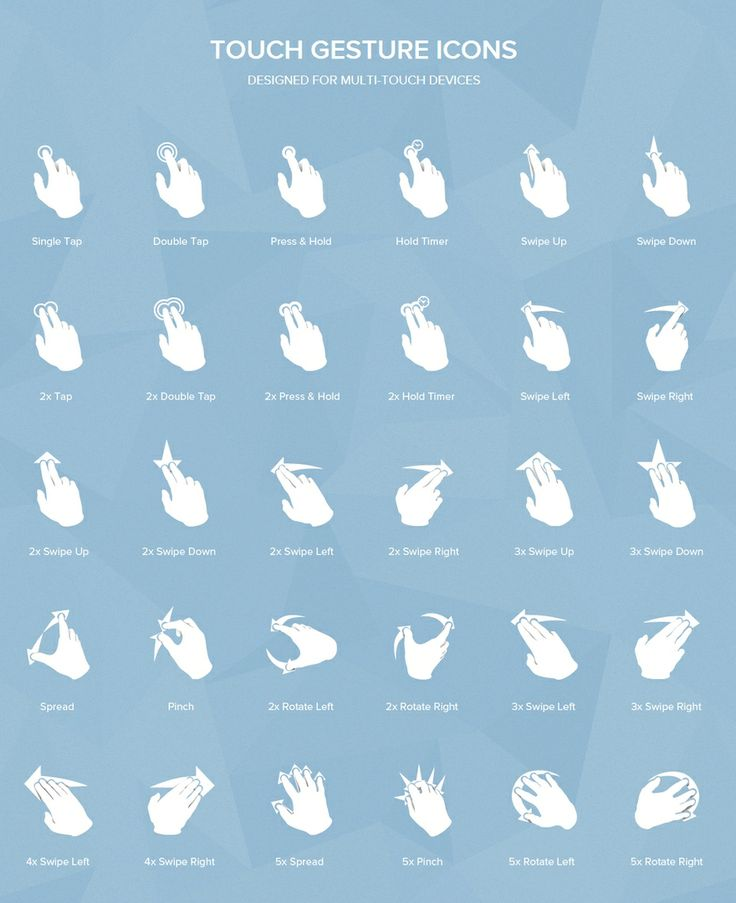 transparent PNG multi-touch gesture icons