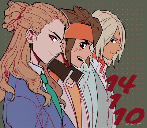 「14110」/「南城」のイラスト [pixiv] Kido, Endou & Goenji   Inazuma Eleven