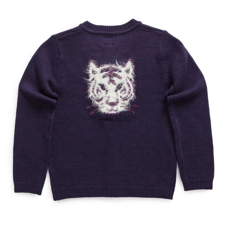 """Cardigan tricot, visuel dos en maille fluffy """"GIRLY JUNGLE"""""""