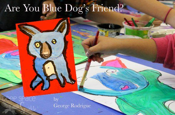 Blue Dogs by George Rodrigue by Deep Space Sparkle
