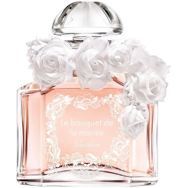 Guerlain Le Bouquet de la Mariee featuring polyvore, beauty products, fragrance, perfume, beauty, makeup, rose fragrance, wash bag, toiletry kits, floral cosmetic bag and dopp bag