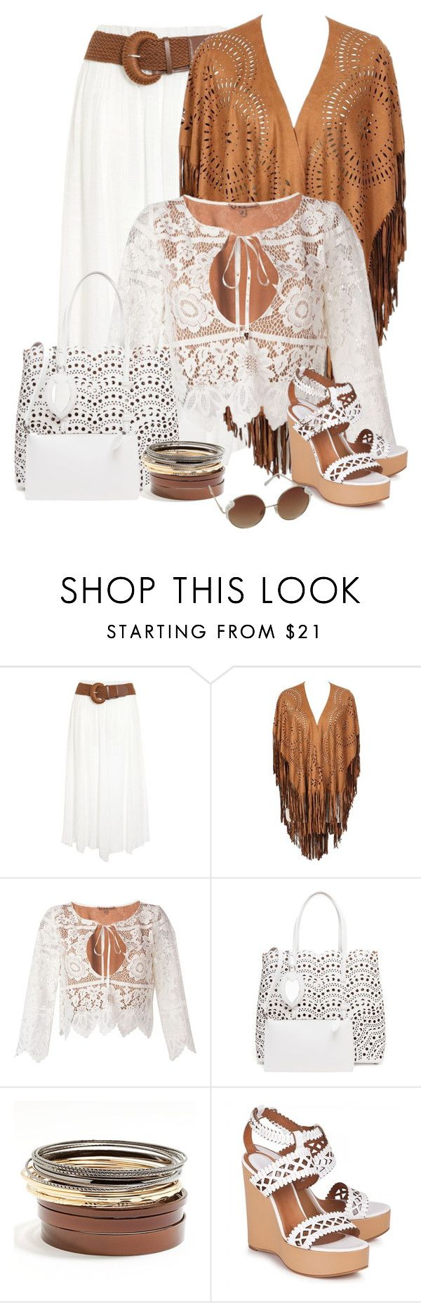 """""""16.08.2016"""" by marie-iiii ❤ liked on Polyvore featuring For Love & Lemons, Alaïa, Daisy Fuentes, Chloé and Dorothy Perkins"""