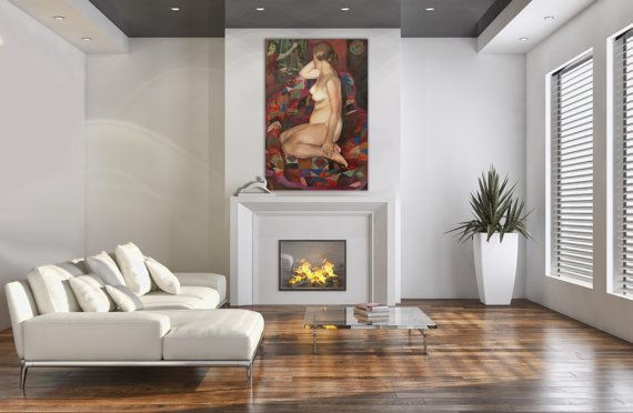 Canvas Art-Nude1982-Wall Art Oil Painting On от InnaShirokova