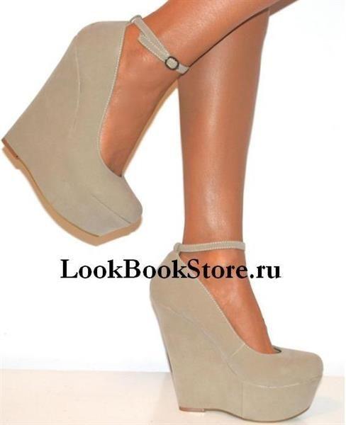 Купить туфли на платформе бежевые
