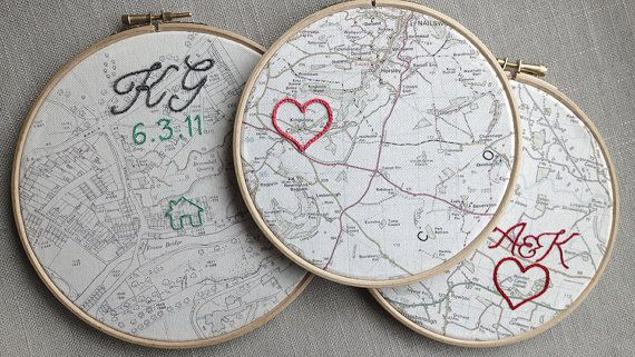 Cotton anniversary gift Vintage map framed in 6 by HouseofWhatnot, £40.00