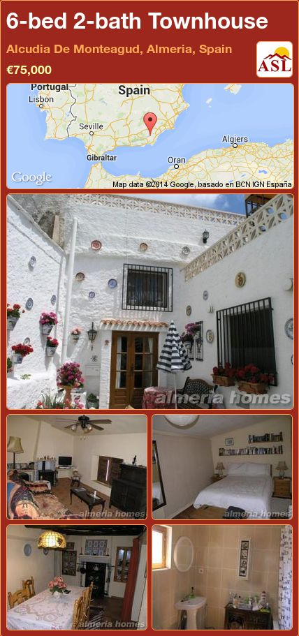 6-bed 2-bath Townhouse in Alcudia De Monteagud, Almeria, Spain ►€75,000 #PropertyForSaleInSpain