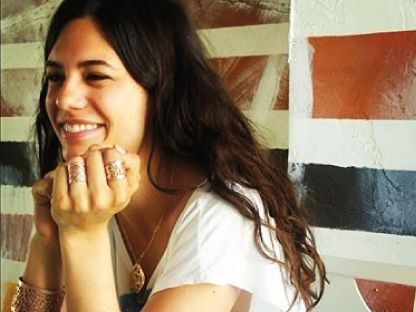 Smiling Anna F wearing Incanto Collection. So romantic #dna #annaf #music #jewelry #incanto