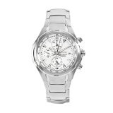 Seiko Men's SNAE39 Neosport Stainless Steel White Chronograph Dial Watch (Watch)  #Whatches
