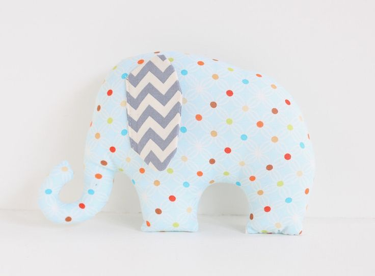 Spotted Elephant soft toy / plush toy for baby. by LaLaLaDesigns on Etsy