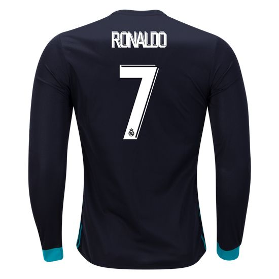 adidas Cristiano Ronaldo #7 Real Madrid Long Sleeve Away Jersey 17/18