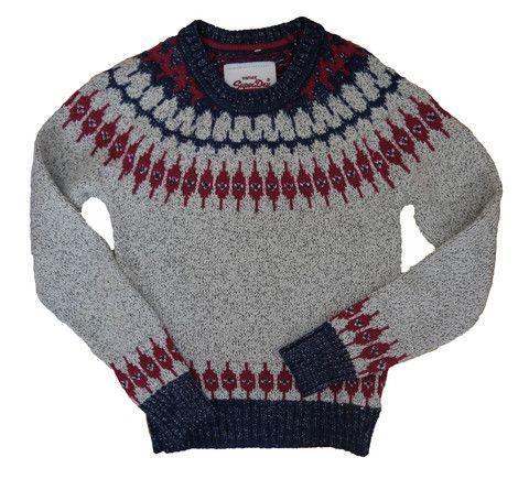 Superdry Womens Peak Fairisle Crew - Vintage Nordic Knit - Ski/Winter wear. Ship worldwide £7.95 to Europe, Free to UK.  http://moyheelandtraders.com/products/superdry-womens-peak-fairisle-crew-vintage-nordic-knit