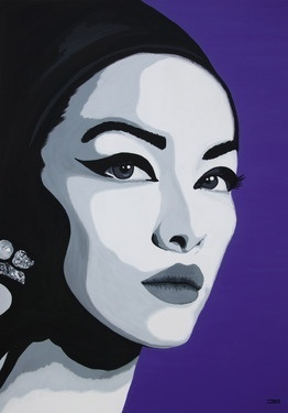 Saatchi Online Artist Eduardo Bessa Rodrigues; Painting, Lady Black #art  pinned with #Bazaart - www.bazaart.me