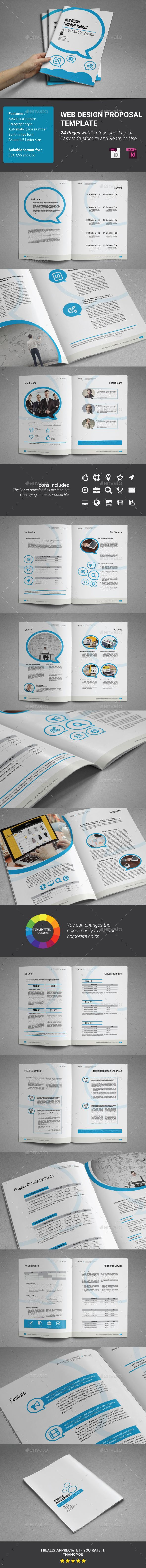 Web Design Proposal Template indesign indd document