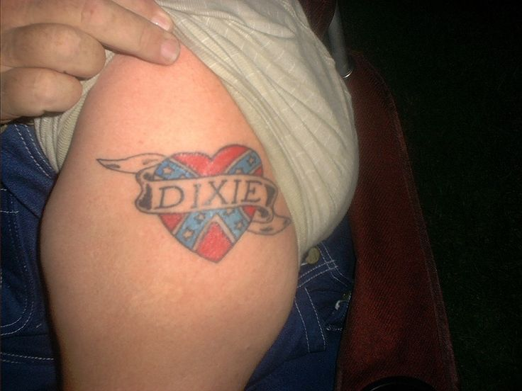 Rebel Flag Browning Heart Tattoos Pin rebel flag on arm on pinterest
