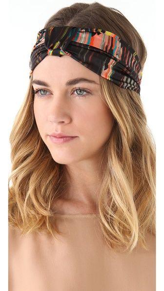 Eugenia Kim Natalia Silk Turban Knot Headband // Shopbop
