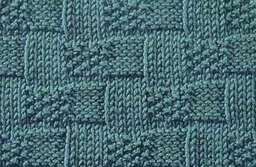 Knitting Galore: Basket Weave Moss Stitch
