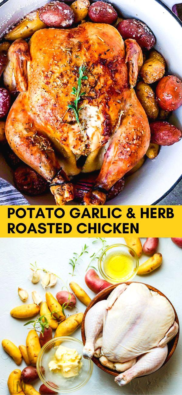 Potato Garlic & Herb Roasted Chicken