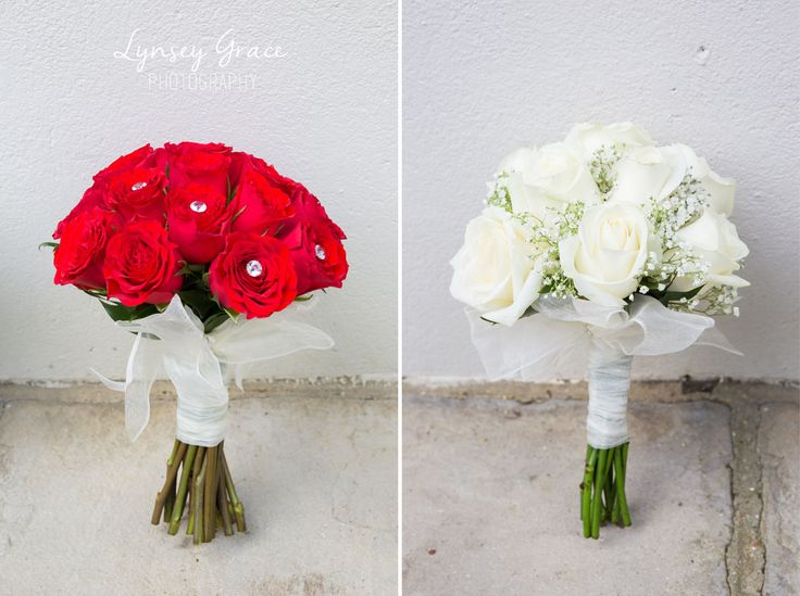 Wedding bouquets red and white