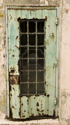 Rusted door at Alcatraz