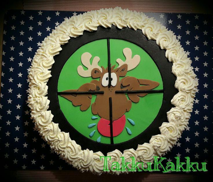 50 th birthday cake, moose